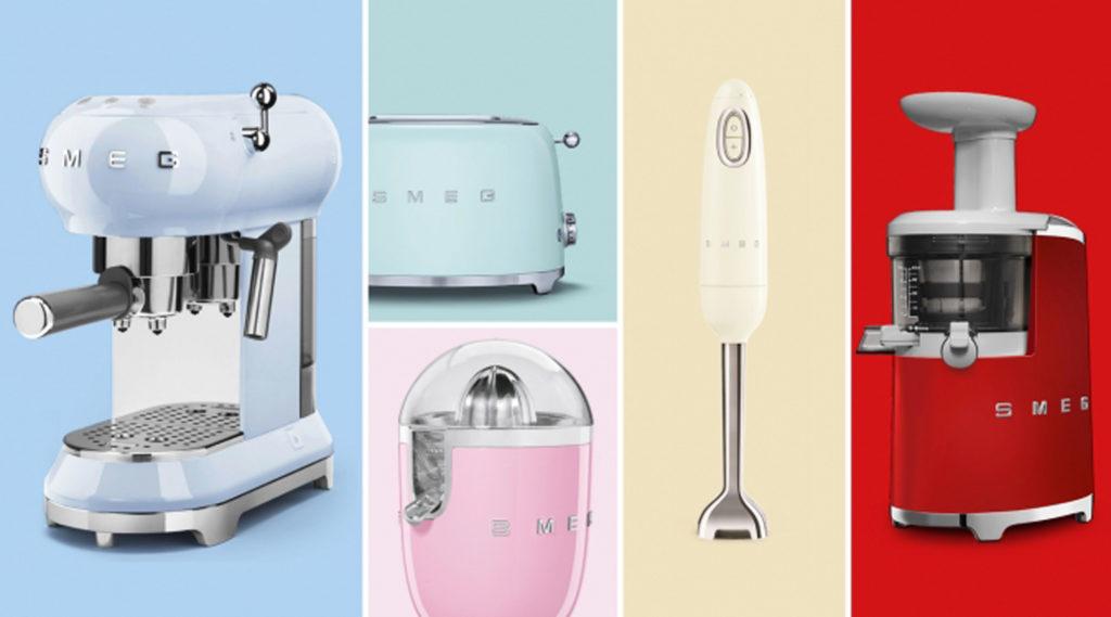 parte del catálogo de pequeños electrodomésticos de SMEG