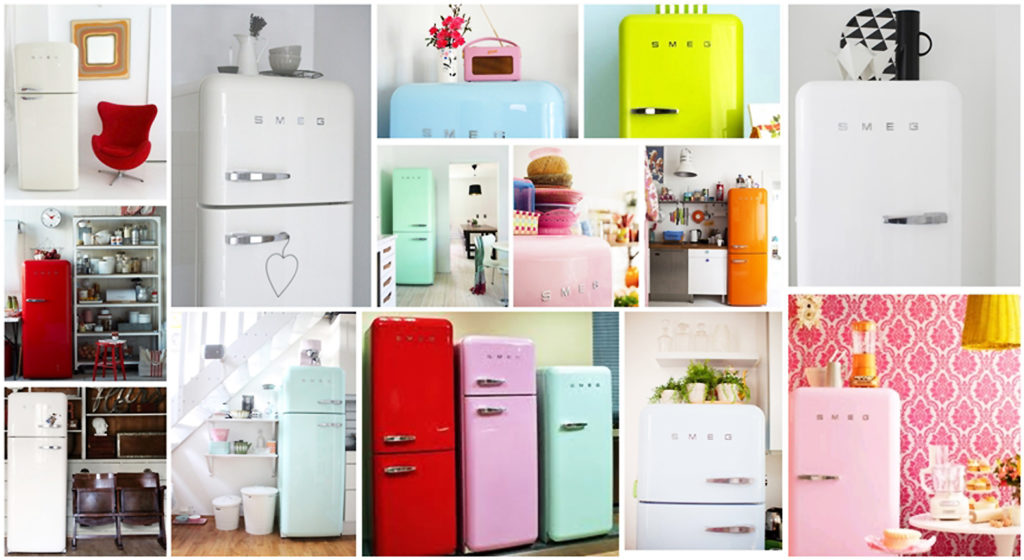 neveras de colores cocina