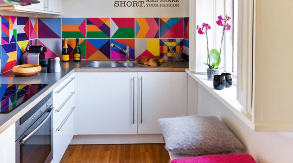 cocina con azulejos