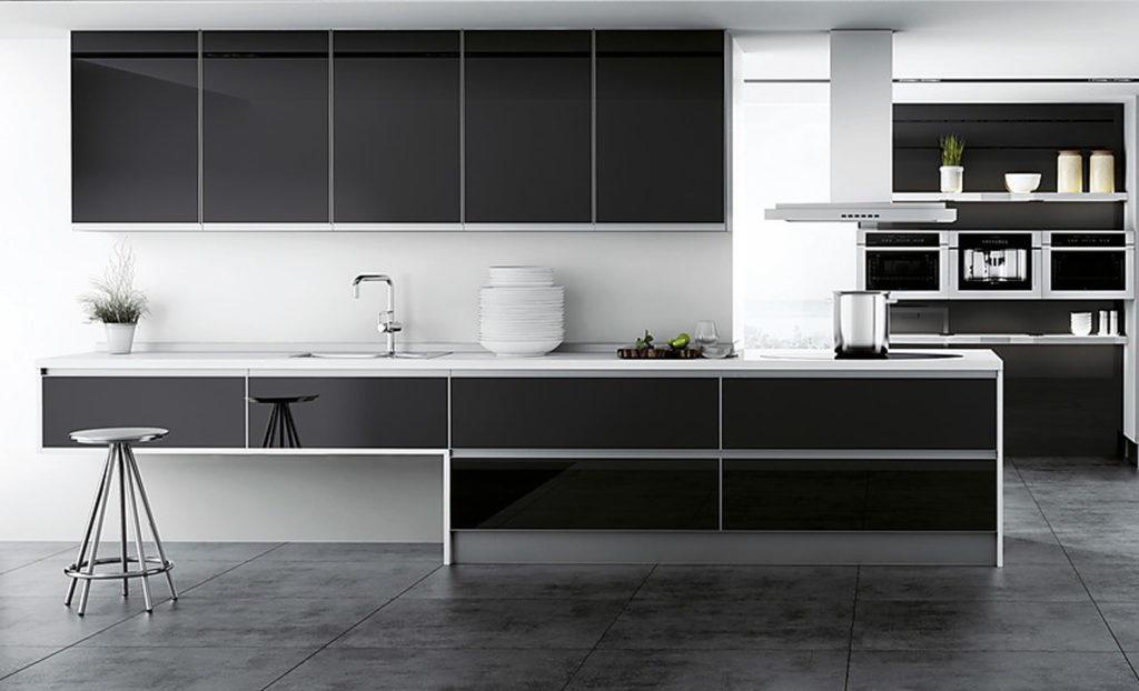 cocina black and white nexo cocinas