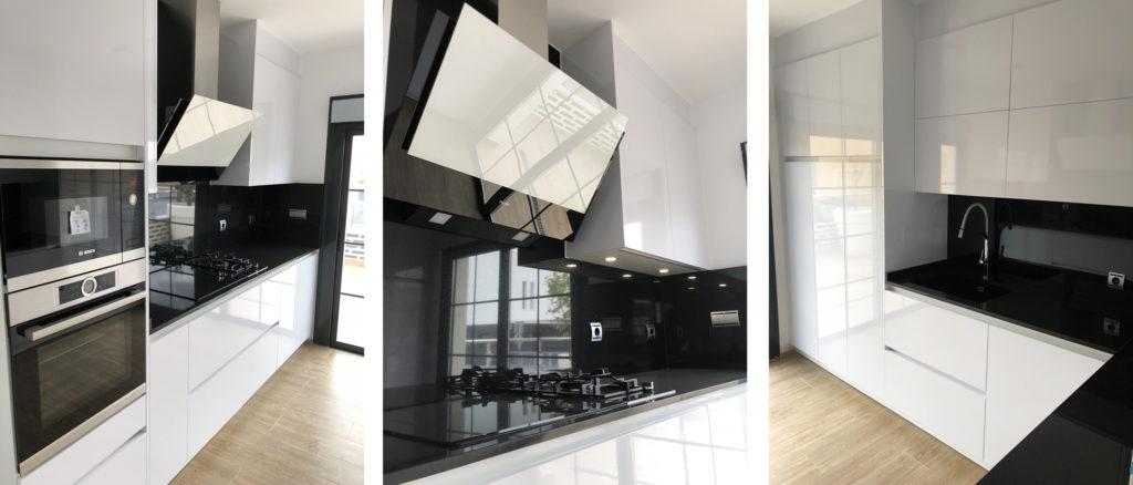 exposición cocina blanco y negro